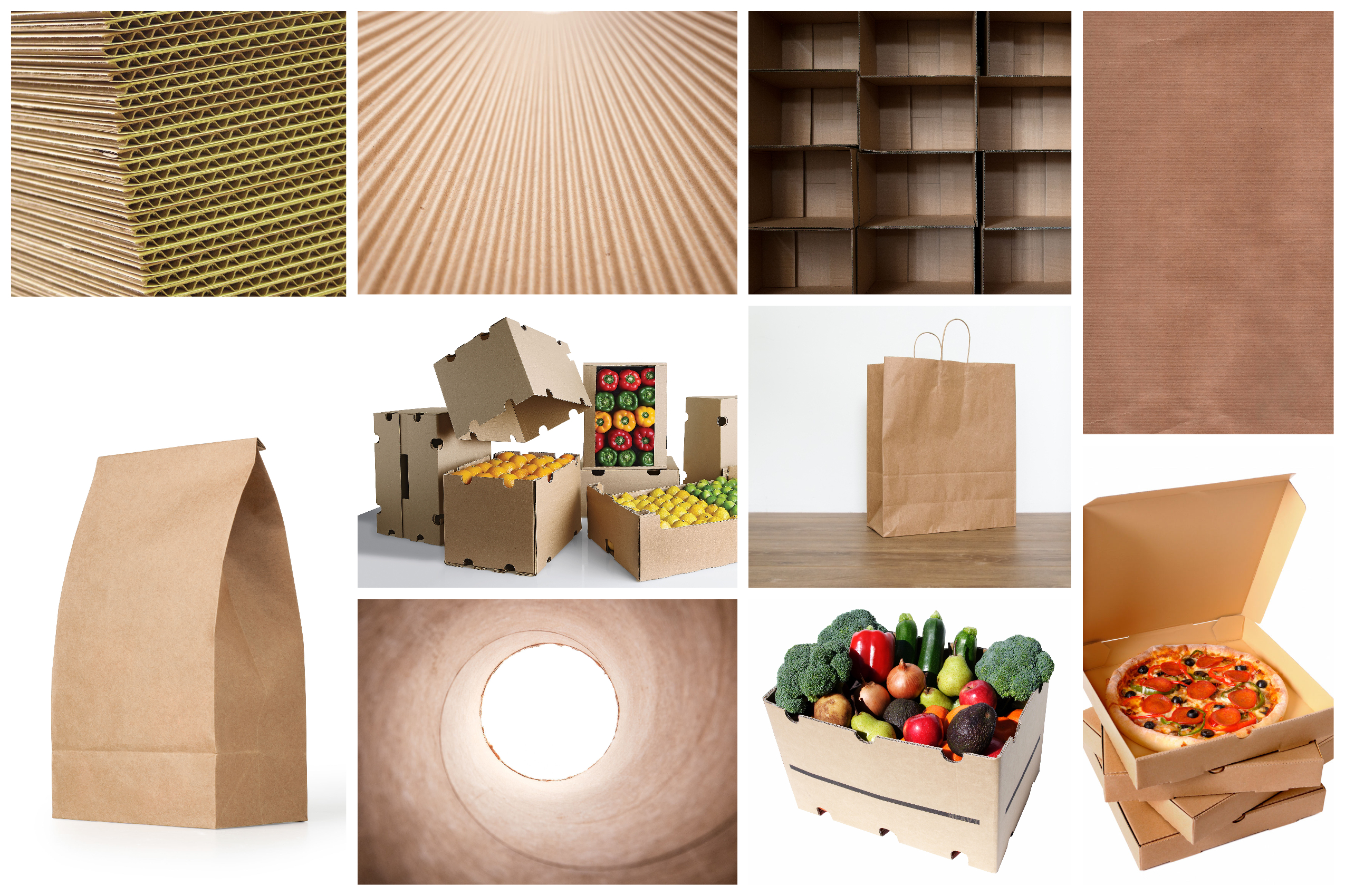 Corrugated cases and kraft
